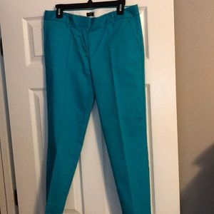NWOT J. Crew City Fit - Teal/Turquoise crop pant